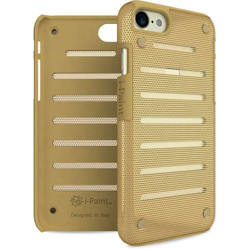 i-Paint Metal Apple iPhone SE 2020 / iPhone 7/8 hoesje - Goud