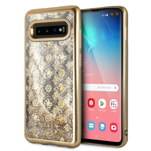 Guess backcover voor Samsung Galaxy S10 Plus - Goud