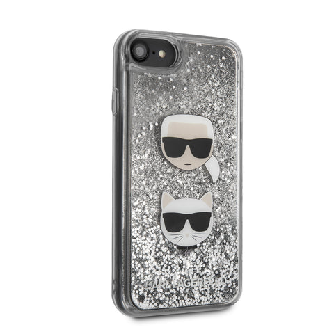 Apple iPhone SE 2020 Print Backcover hoesje Zilver
