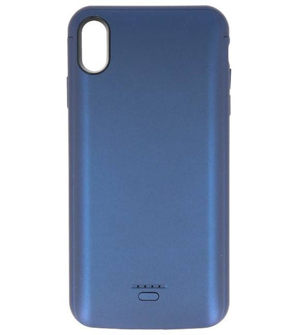 Battery Power Case voor iPhone XS Max 5000 mAh  Blauw