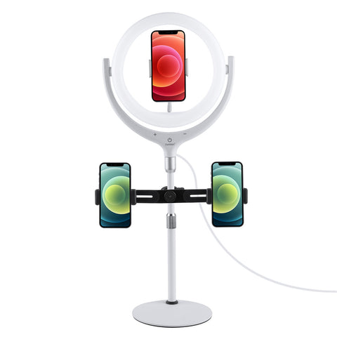 Earldom  Selfie Ring light LED lamp met Staand - Wit