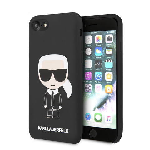 Karl Lagerfeld Apple iPhone SE 2020 Backcover hoesje Zwart - Full Body Iconic