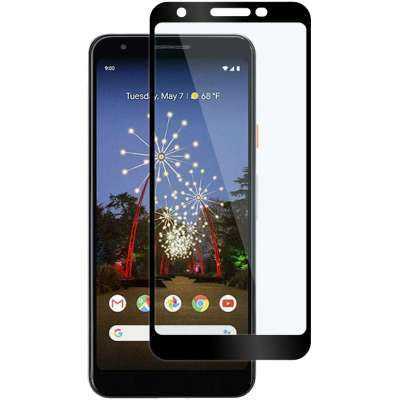 Just in Case Full Cover Tempered Glass Google Pixel 3a Zwart