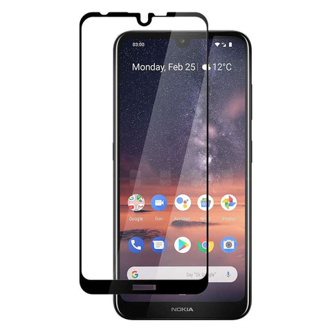 Just in Case Full Cover Tempered Glass Nokia 3.2 Zwart