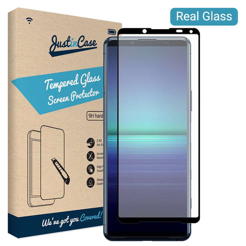 Full Cover Tempered Glass Sony Xperia 5 II Zwart