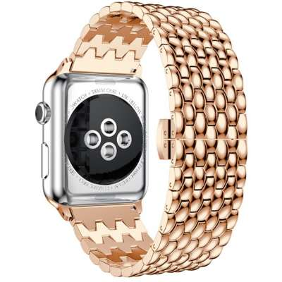 Just in Case Premium Hyve armband voor Apple Watch 44MM / 42MM Rose Goud
