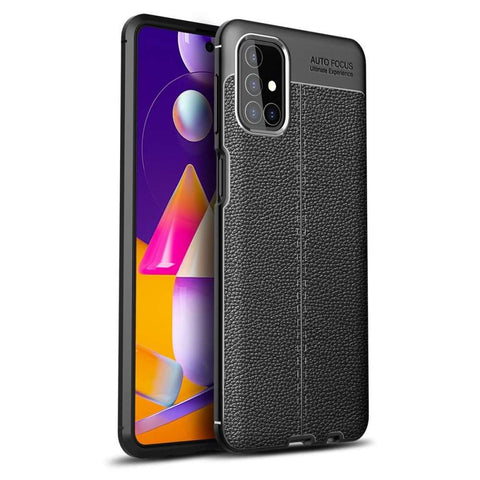 Just in Case Soft Design TPU Samsung Galaxy M31s Hoesje Zwart