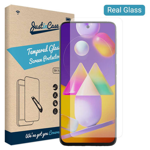 Just in Case Samsung Galaxy M31s Tempered Glass - Transparant