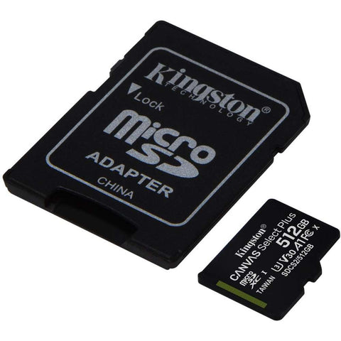 Kingston Canvas Select Plus microSD Card 10 UHS-I - 512GB - inclusief SD adapter