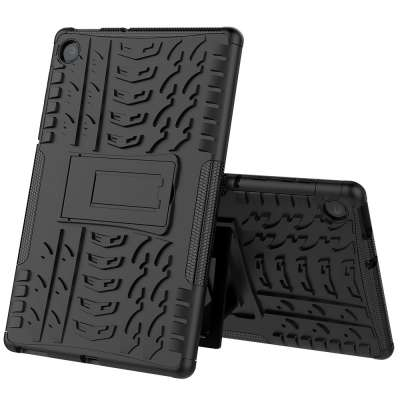 Just in Case Rugged Hybrid Lenovo Tab M10 Plus Case Zwart