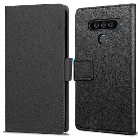 Just in Case LG G8S ThinQ Wallet Case (Zwart)