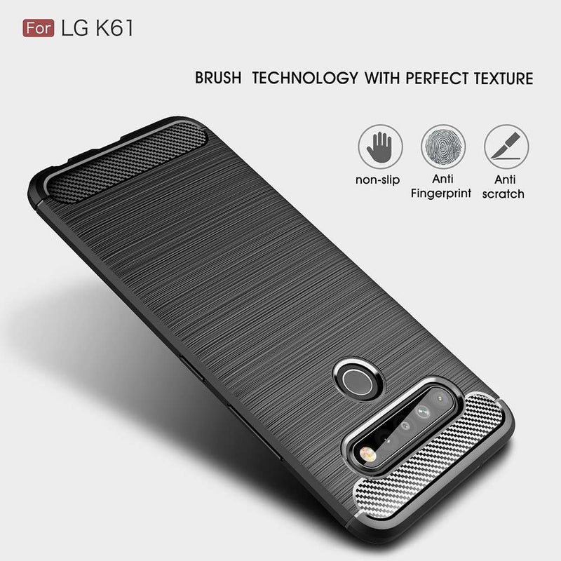 Just in Case Rugged TPU LG K61 Case - Zwart
