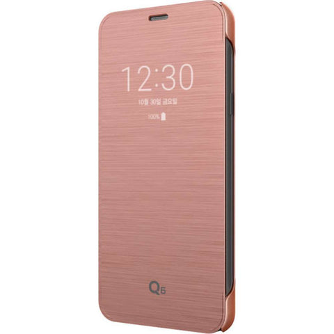 LG Q6 Clean Up Quick View Cover - Rose Goud
