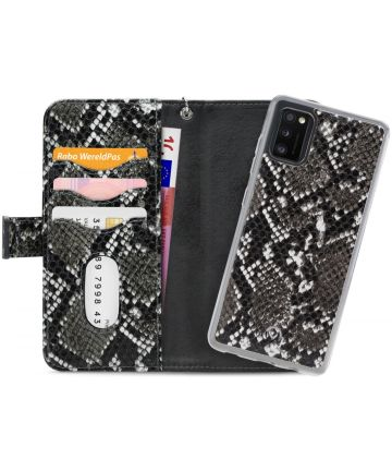 Mobilize Gelly Wallet Zipper Samsung Galaxy A41 Hoesje Black Snake