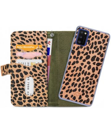 Mobilize Gelly Wallet Zipper Samsung Galaxy A41 Hoesje Olive Leopard