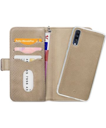 Mobilize Gelly Wallet Zipper Samsung Galaxy A70 Hoesje Beige