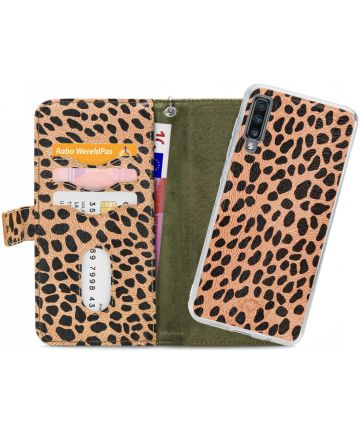 Mobilize Gelly Wallet Zipper Samsung Galaxy A70 Hoesje Olive Leopard
