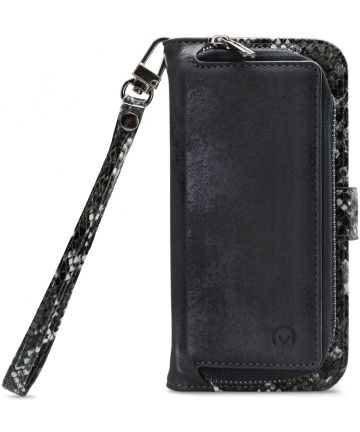Mobilize Gelly Wallet Zipper Samsung Galaxy A71 Hoesje Black Snake