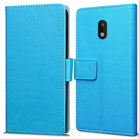 Just in Case Nokia 1.3 Wallet Case - Blauw
