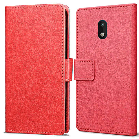 Just in Case Nokia 1.3 Wallet Case - Rood