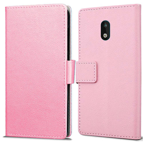 Just in Case Nokia 1.3 Wallet Case - Roze