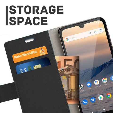 Just in Case Nokia 1.3 Wallet Case - Zwart
