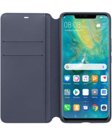 Huawei Mate 20 Pro Wallet Cover - Blauw