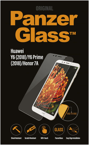 PanzerGlass Huawei Y6 2018 Edge To Edge Screenprotector Transparant