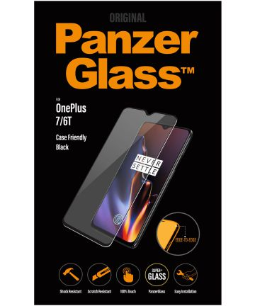 PanzerGlass OnePlus 7/6T Edge To Edge Screenprotector Zwart