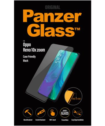 PanzerGlass Oppo Reno 10X Zoom Case Friendly Screenprotector Zwart