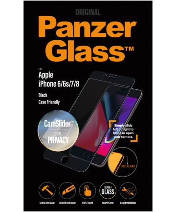 PanzerGlass Privacy Apple iPhone 7/8 Camslider Case Friendly Screenprotector