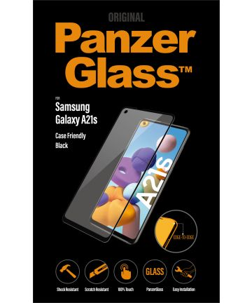 PanzerGlass Samsung Galaxy A21s Screenprotector Case Friendly Zwart