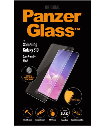 PanzerGlass Samsung Galaxy S10 Fingerprint Screenprotector Zwart