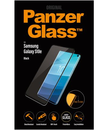 PanzerGlass Samsung Galaxy S10E Case Friendly Screenprotector Zwart