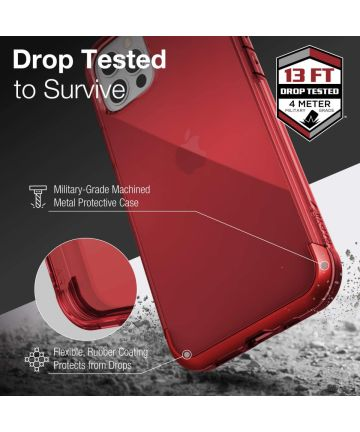 Raptic Air Apple iPhone 12/12 Pro Back Cover Hoesje Rood