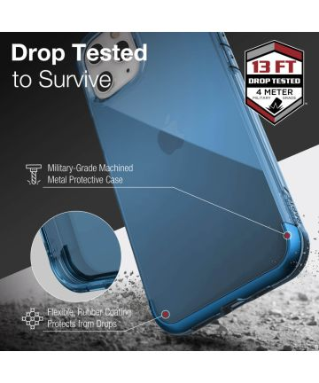 Raptic Air Apple iPhone 12 Pro Max Back Cover Hoesje Blauw
