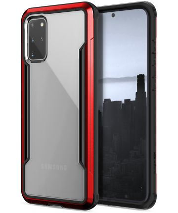 Samsung Galaxy S20 Plus Hoesje Transparant/Rood