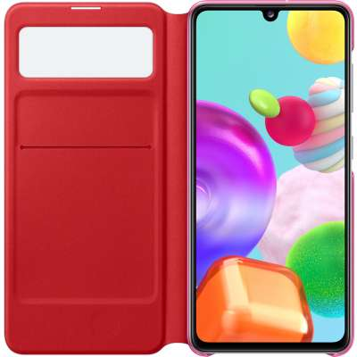 Samsung Galaxy A41 S View Wallet Cover - Wit