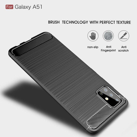 Samsung Galaxy A51 Rugged TPU Case - Zwart