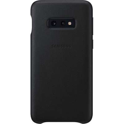 Samsung Galaxy S10e Leather Cover Zwart