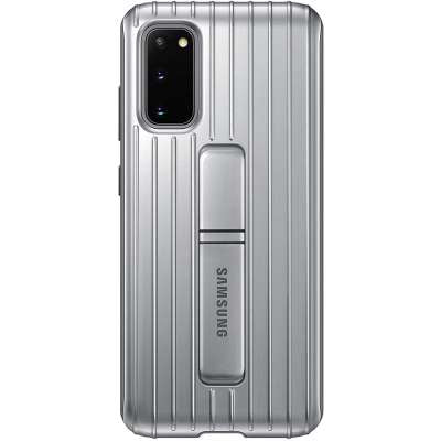 Samsung Galaxy S20 Protective Standing Cover Zilver
