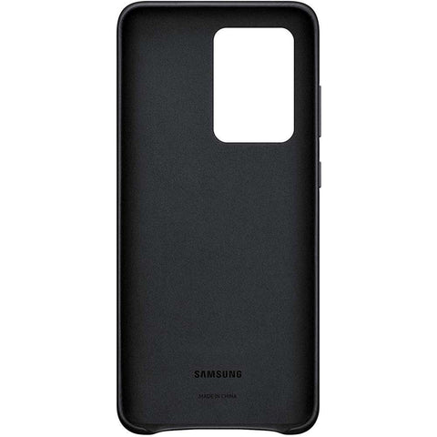 Samsung Galaxy S20 Ultra Leather Cover Zwart