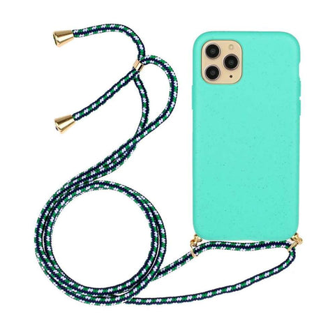 Soft TPU Apple iPhone 11 Pro hoesje met koord - Blauw