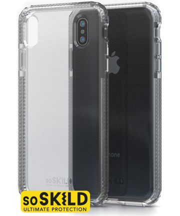 SoSkild iPhone XS Max  Defend Heavy Impact Backcover Hoesje Transparant