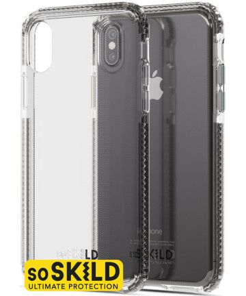 SoSkild iPhone X/XS Transparant Defend Heavy Impact Hoesje Backcover Transparant