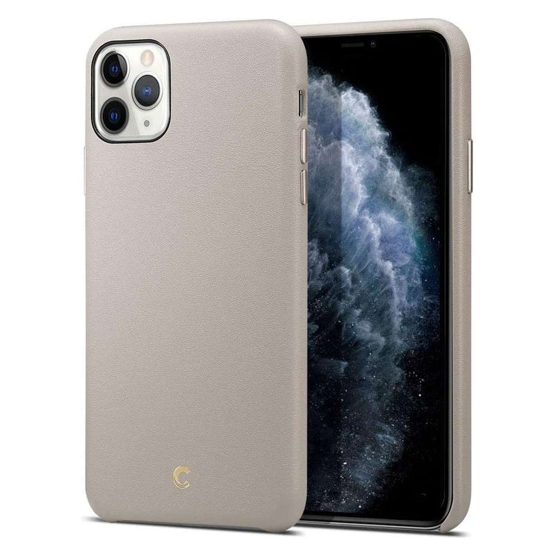 Spigen Ciel by Cyrill Leather Apple iPhone 11 Pro Max Hoesje - Taupe
