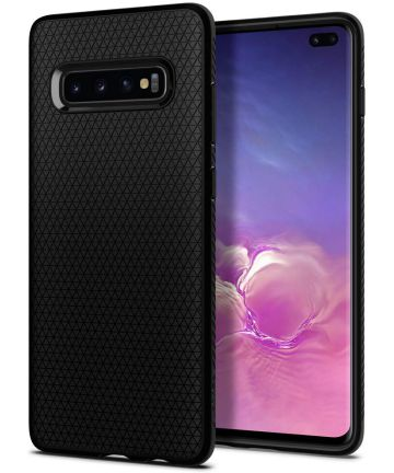 Spigen Liquid Air Hoesje Samsung Galaxy S10 Plus Zwart