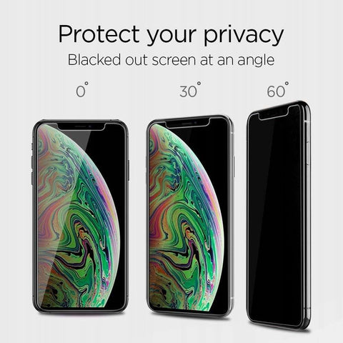 Spigen Privacy Glass Apple iPhone 11 Pro Max Met Montage Frame