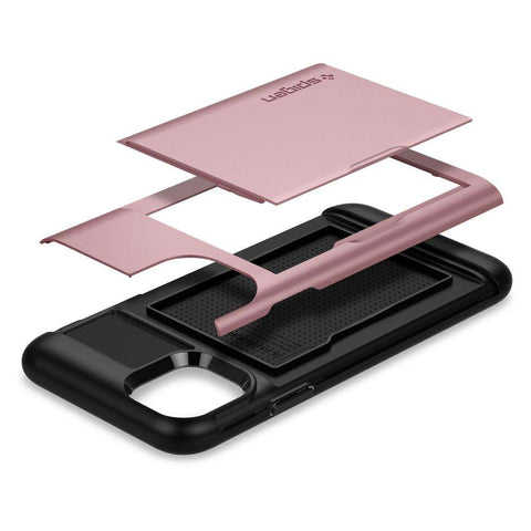 Spigen Slim Armor CS Apple iPhone 11 Pro Max Hoesje - Rose Goud