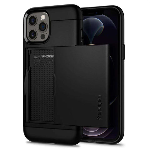 Spigen Slim Armor CS Apple iPhone 12/12 Pro Hoesje - Zwart